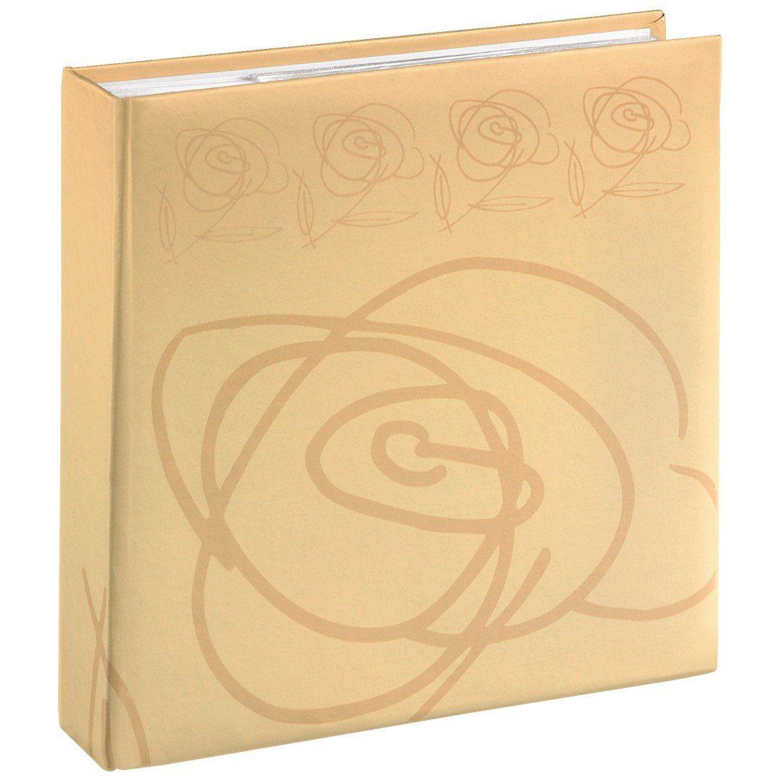 Hama Memo-Album Wild Rose, für 200 Fotos im Format 10x15 cm, Beige