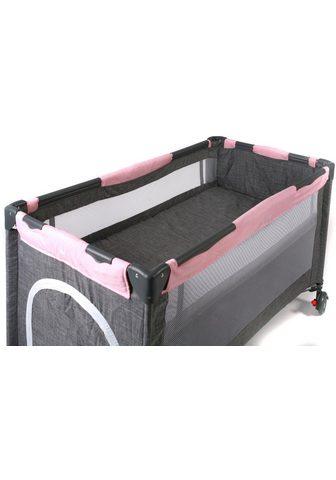 CHIC4BABY Baby-Reisebett »Luxus Melange Rosa«