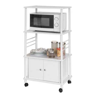 SoBuy Küchenwagen »FRG12«, Küchenschrank Rollschrank Mikrowellenschrank