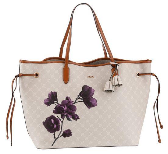 Joop! Shopper »cortina fiori lara shopper xlho«, mit herausnehmbarem Reißverschluss-Täschchen und Volumenregulierung und schickem Blumenranken-Druck