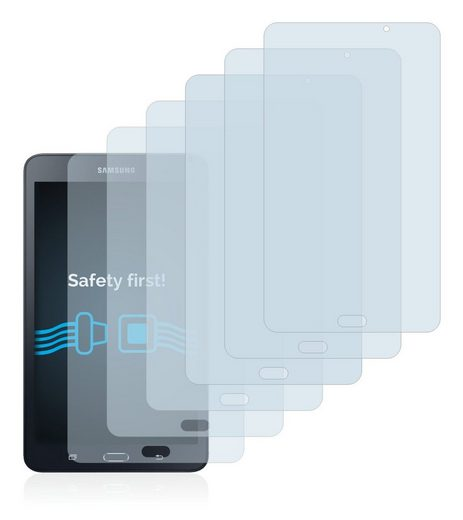 Savvies Schutzfolie »für Samsung Galaxy Tab A 6 7.0«, (6 Stück), Folie Schutzfolie klar