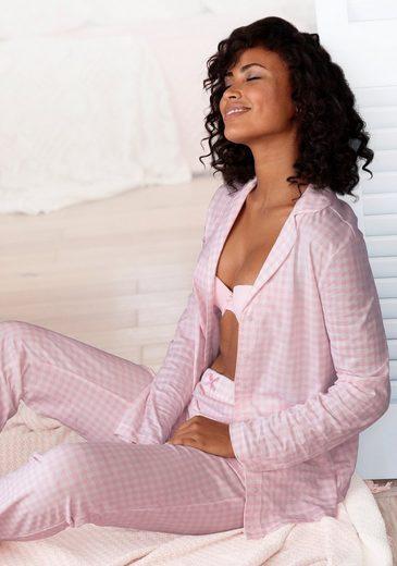 Vivance Dreams Pyjama mit feinem Muster
