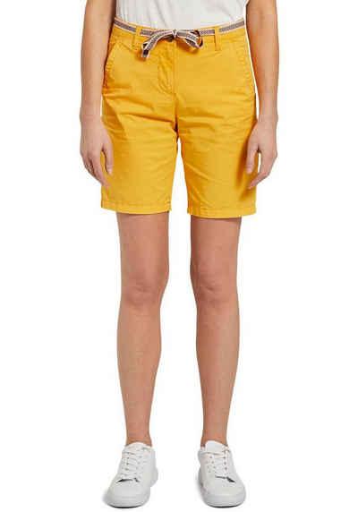 TOM TAILOR Shorts (mit Bindegürtel) mit Bindegürtel im Ethno-Design