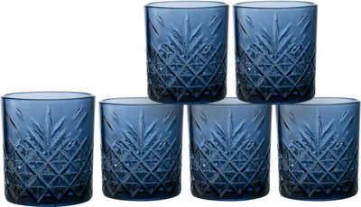 Home affaire Whiskyglas »Dorum«, Glas, durchgefärbtes Glas mit dekorativer Struktur, 340 ml, 6-teilig