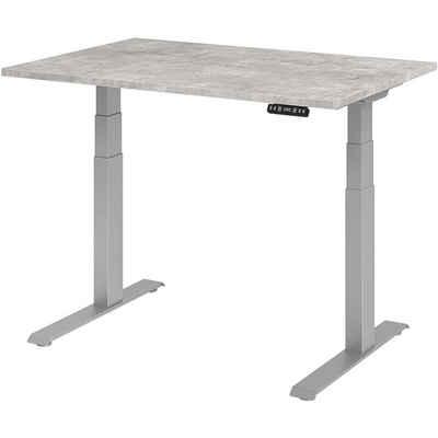 HAMMERBACHER Schreibtisch »Upper Desk«, elektrisch höhenverstellbar bis 129 cm, Gestell silberfarben