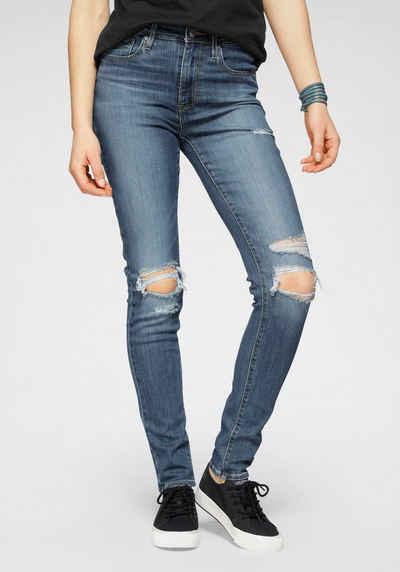 Levi's® Skinny-fit-Jeans »721 High Rise« High Waist mit Destroyed-Effekten