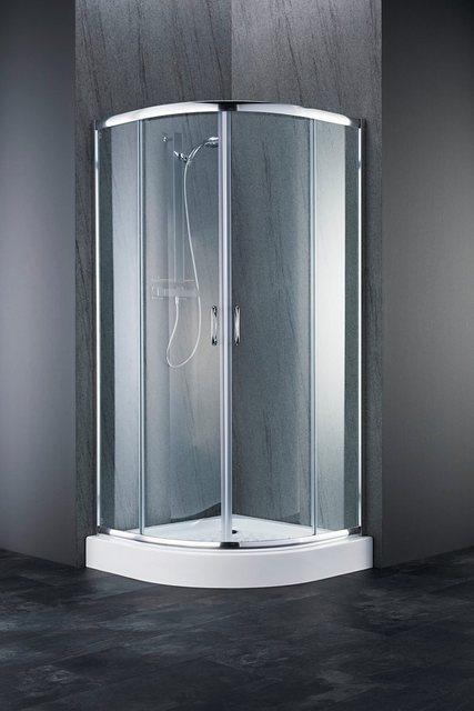 Duschen und Zubehör - welltime Runddusche »Summer«, BxT 80x80 cm, Sicherheitsglas, mit großem Verstellbereich  - Onlineshop OTTO