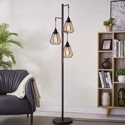 ZMH Stehlampe »Stehleuchte Vintage 3-flammige, Retro Standleuchte aus Eisen, E27 Fassung max 40W, ohne Leuchtmittel«