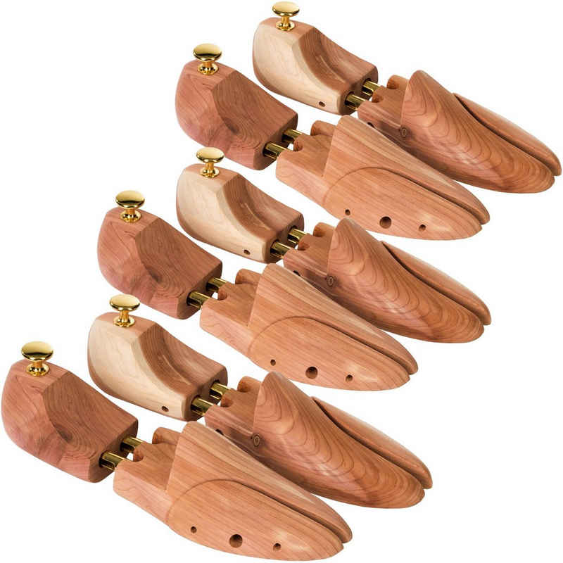 tectake Schuhspanner »3 Paar Schuhspanner aus Zedernholz«