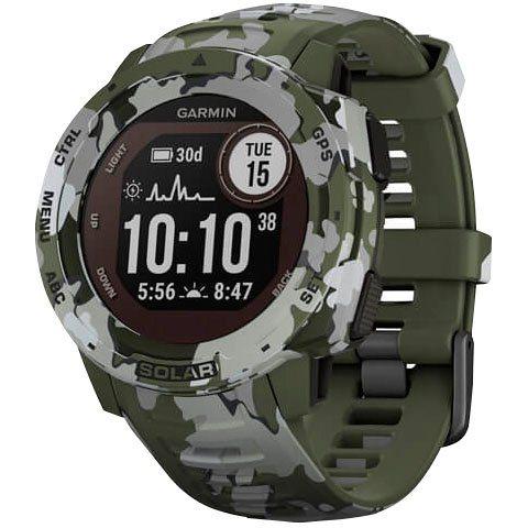 Garmin Instinct Solar Camo Edition Smartwatch (2,3 cm/0,9 Zoll)
