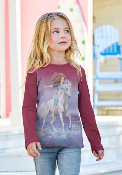 Miss Melody Langarmshirt mit schönem Pferdemotiv
