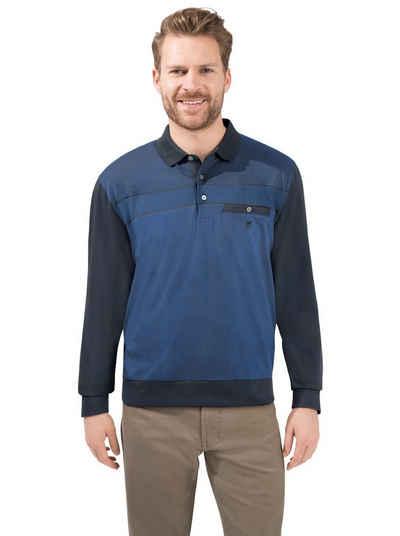 Hajo Langarm-Poloshirt