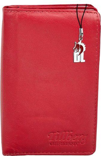 DrachenLeder Geldbörse »OPR710R DrachenLeder Portemonnaie mit RFID Block« (Portemonnaie), Damen Portemonnaie Echtleder, rot