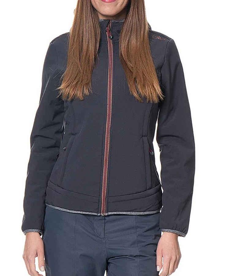 CAMPAGNOLO Funktionsjacke »Campagnolo Funktions-Jacke isolierende Outdoor-Jacke für Damen mit Teddy-Fell Freizeit-Jacke Anthrazit«