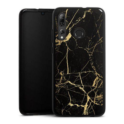 DeinDesign Handyhülle »BlackGoldMarble Look« Huawei P Smart Plus (2019), Hülle Gold & Kupfer Marmor Muster