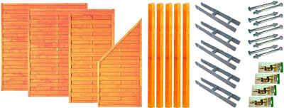 T&J Dichtzaun »San Diego 1«, (Set), 4 Elemente, LxH: 585x180 cm