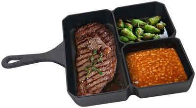 Jim Beam BBQ Grillpfanne, Gusseisen (1-tlg), BxLxH: 23x35x4 cm