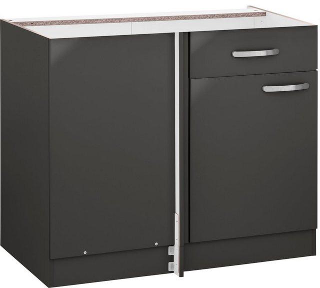 Küchenschränke - wiho Küchen Eckunterschrank »Kansas« 110 cm breit, ohne Arbeitsplatte  - Onlineshop OTTO