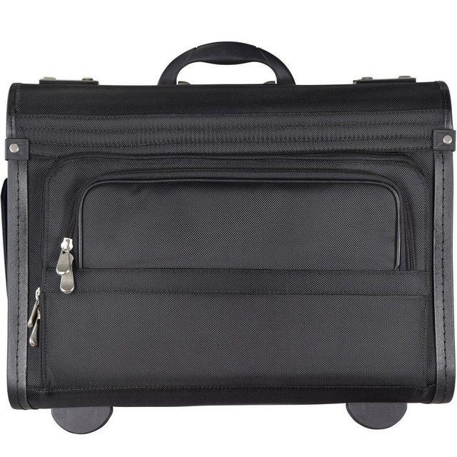 Dermata Pilotenkoffer Trolley 46 cm Laptopfach | Taschen > Koffer & Trolleys > Trolleys | Schwarz | Dermata