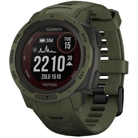 Garmin Instinct Solar Tactical Edition Smartwatch (2,3 cm/0,9 Zoll)