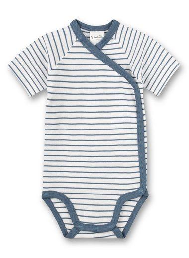 Sanetta Body »Sanetta Pure Jungen Wickelbody kurzarm aus 100 % Baumwolle (Bio)«