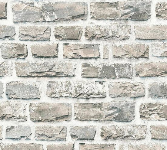 living walls Vliestapete »Neue Bude 2.0«, Steinoptik, Naturstein