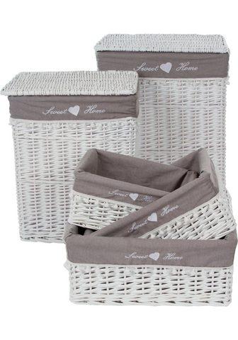 HOME AFFAIRE Skalbinių krepšys »Home« (Rinkinys 5 v...