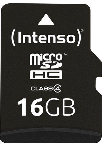 INTENSO »microSDHC Class 4 + SD-Adapter« Atmin...