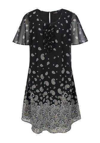 MIAMODA Šifoninė suknelė su Paisleydruck