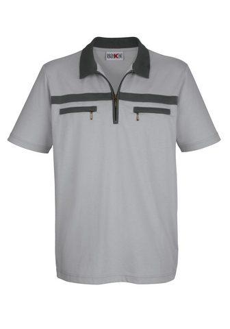 ROGER KENT Polo marškinėliai su Kontrastbesatz
