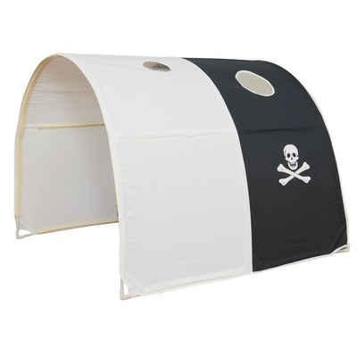 Homestyle4u Betttunnel »Tunnel Bogen Zelt Bettzelt schwarz Bettdach«