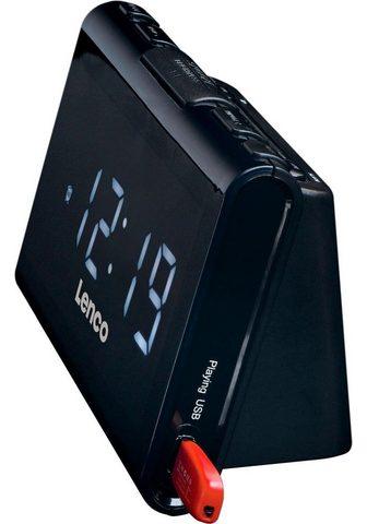 LENCO »CR-525« Radijas su laikrodžiu (FM-Tun...