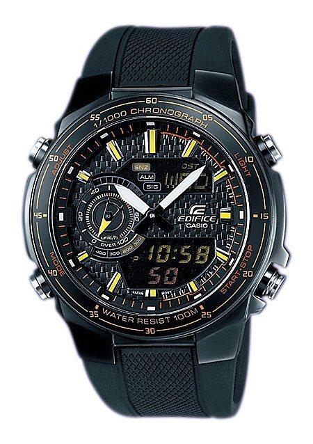 "Casio Edifice, Armbanduhr, ""EFA-131PB-1AVEF"" in schwarz"