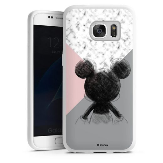 DeinDesign Handyhülle »Mickey Mouse Scribble« Samsung Galaxy S7, Hülle Disney Marmor Offizielles Lizenzprodukt