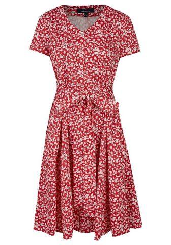 DANIEL HECHTER Florales suknelė su surišamas diržas