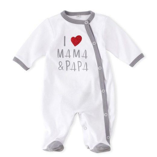 Baby Sweets Schlafanzug »Schlafanzug I love Mama & Papa« (1-tlg)