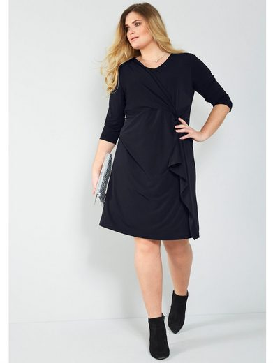 Sara Lindholm by Happy Size Jerseykleid mit Knotenoptik