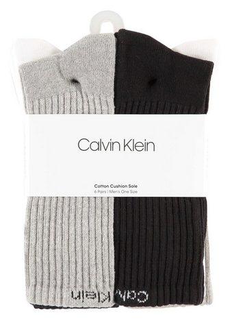 CALVIN KLEIN Sportinės kojinės Crew (6 poros)
