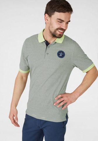 Lime-Polo-Shirt с Linien