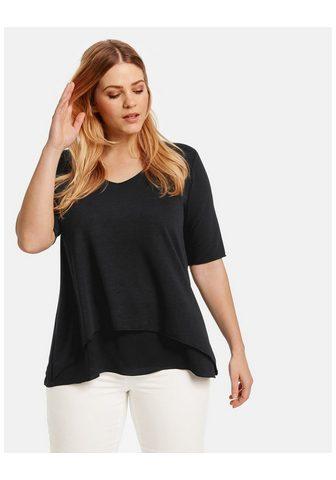 SAMOON Marškinėliai trumpomis rankovėmis apva...