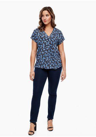 Crêpe/Jersey-T-Shirt