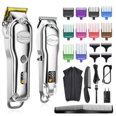 HATTEKER Haarschneider RFC-696H, Bartschneider,Haarschneidemaschine,T-Klingen-Trimmer, Akku/Netz