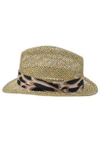 SEEBERGER šiaudinė skrybėlė »Trilby Seegras su L...