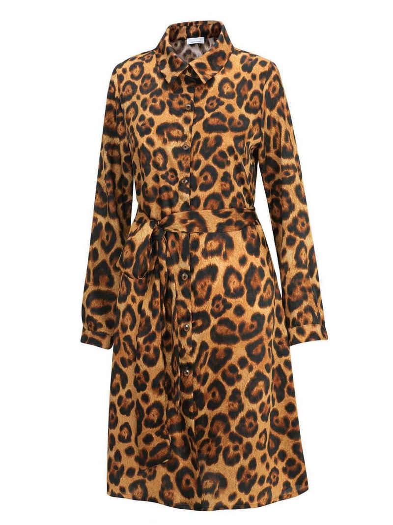 Eva B.Bitzer Nachthemd »Langarm-Kleid, Länge 92cm« (1-tlg)