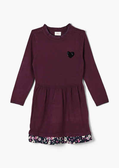 s.Oliver Minikleid »Kleid aus Viskosemix« Blende, Glitzer