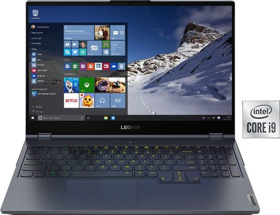 Lenovo Legion 7 15IMH05 Notebook (39,6 cm/15,6 Zoll, Intel Core i9, RTX 2080, 2000 GB SSD, inkl. Office-Anwendersoftware Microsoft 365 Single im Wert von 69 Euro)