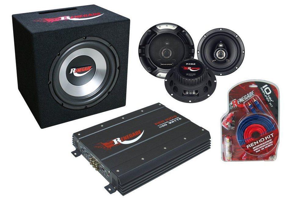 Car-HiFi-Set, Renegade, Autolautsprecher und Verstärker
