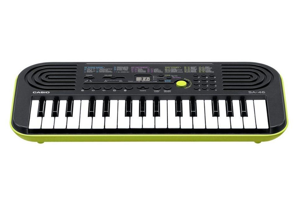 Casio® Mini Keyboard, »SA-46« in schwarz-grün