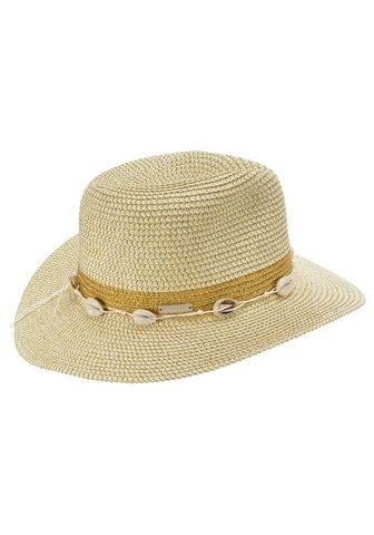 SEEBERGER šiaudinė skrybėlė »Fedora in melangier...