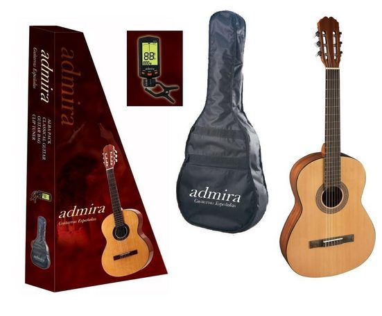 admira Gitarrenset »Alba 3/4 - Set« 3/4, mit Transporttasche und digitales Stimmgerät